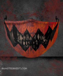 halloween fabric all over printed face mask