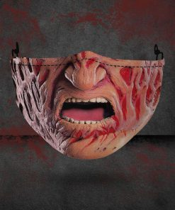 halloween freddy krueger all over printed face mask 1
