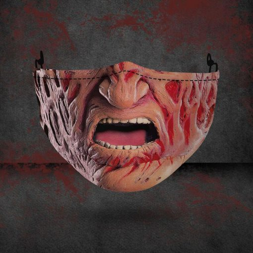 halloween freddy krueger all over printed face mask 3