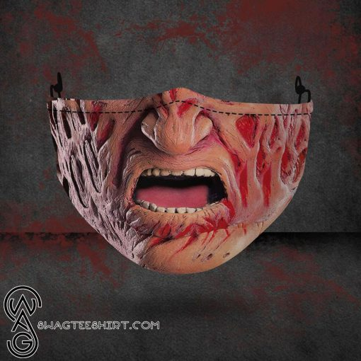 halloween freddy krueger all over printed face mask