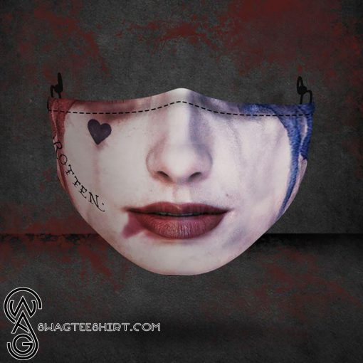 halloween harley quinn all over printed face mask