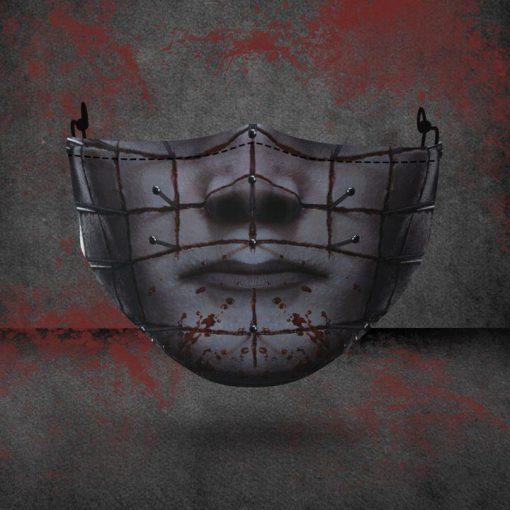 halloween hellraiser all over printed face mask 2
