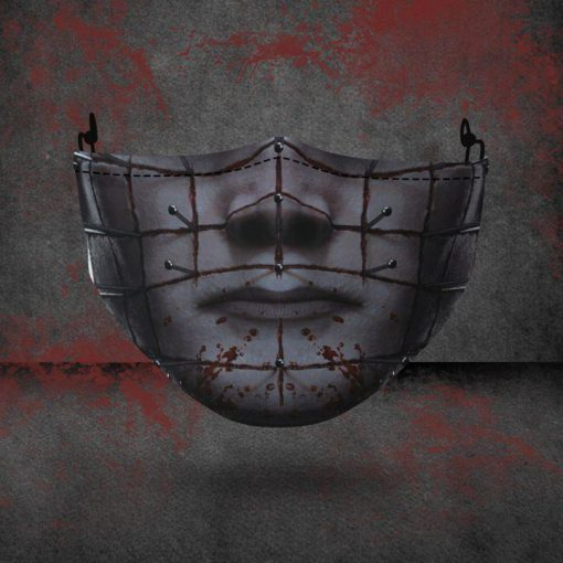 halloween hellraiser all over printed face mask 3