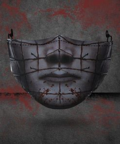 halloween hellraiser all over printed face mask 4
