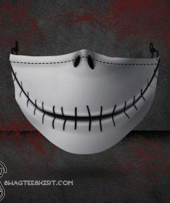 halloween jack skellington all over printed face mask
