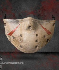 halloween jason voorhees all over printed face mask