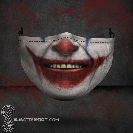 halloween joker face all over printed face mask
