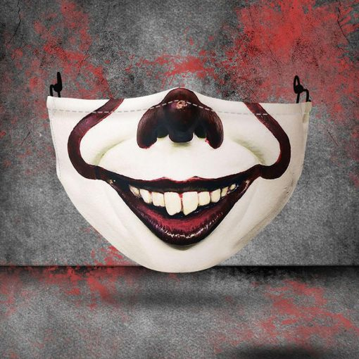 halloween pennywise all over printed face mask 1