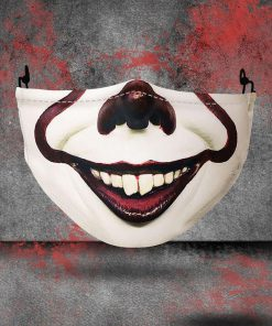 halloween pennywise all over printed face mask 2