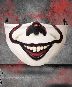 halloween pennywise all over printed face mask