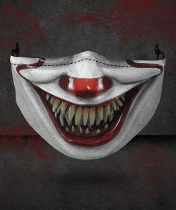 halloween pennywise face all over printed face mask 2