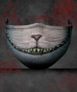 halloween the cheshire cat all over printed face mask 2