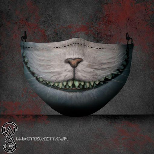 halloween the cheshire cat all over printed face mask
