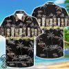 harley-davidson motorcycles tropical pattern hawaiian shirt