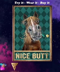 horse nice butt vintage poster