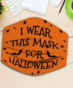 i wear this mask for halloween all over printed face mask 2