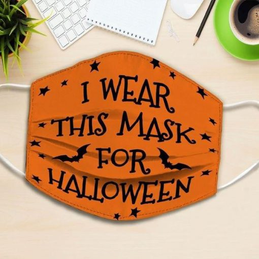 i wear this mask for halloween all over printed face mask 3