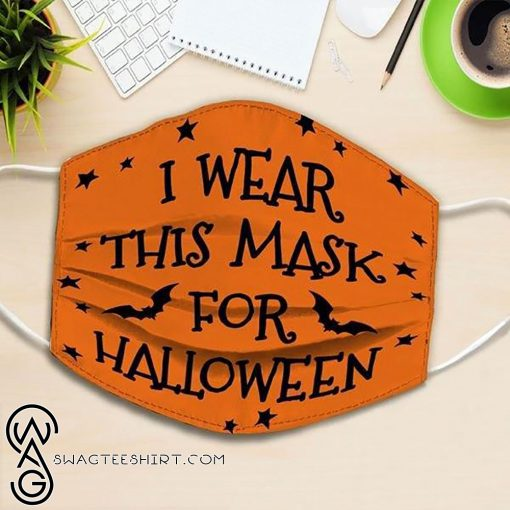 i wear this mask for halloween all over printed face mask