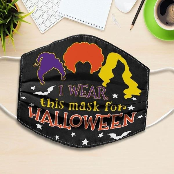 i wear this mask for halloween hocus pocus all over printed face mask 1