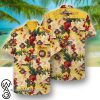 indian motorcycle girl pattern hawaiian shirt