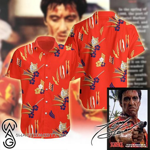 tropical antonio montana scarface hawaiian shirt