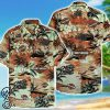 tropical beach harley-davidson motorcycles pattern hawaiian shirt