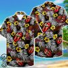 tropical flower the rolling stones hawaiian shirt