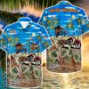 tropical harley-davidson motorcycles hawaiian shirt