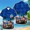 tropical miami dolphins parrot hawaiian shirt
