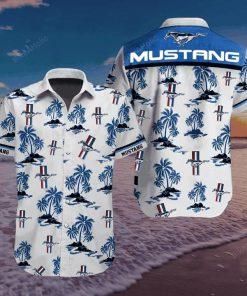 tropical mustang symbol hawaiian shirt 1