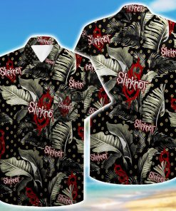 tropical slipknot pattern hawaiian shirt 4