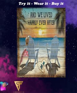 turtle we lived happily ever after summer poster - Copy