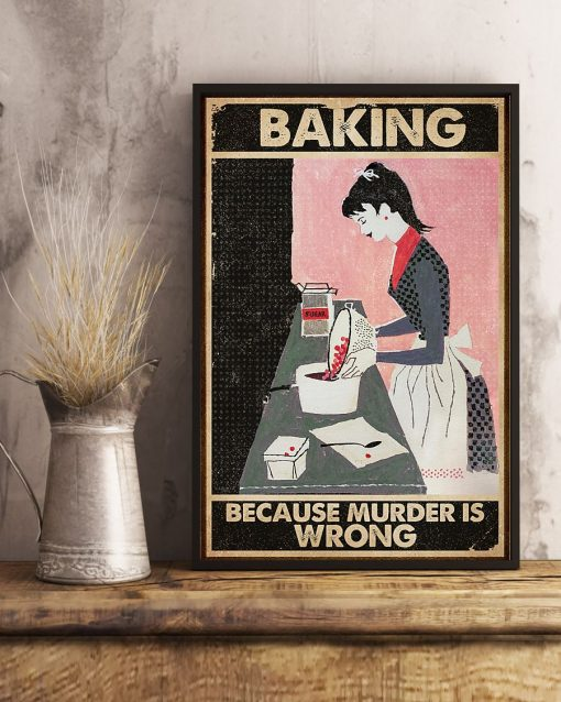 vintage baking because murder is wrong poster 2