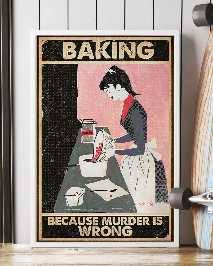 vintage baking because murder is wrong poster 3