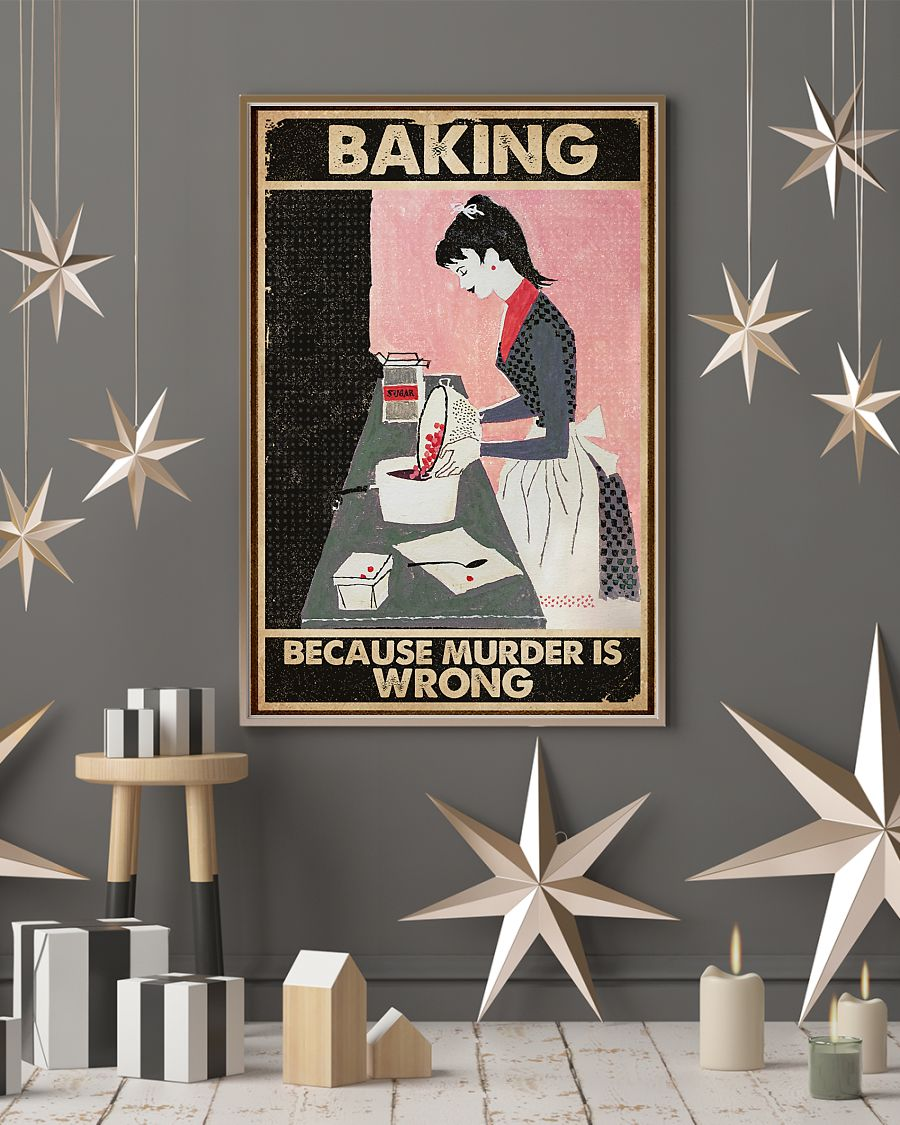 vintage baking because murder is wrong poster 4
