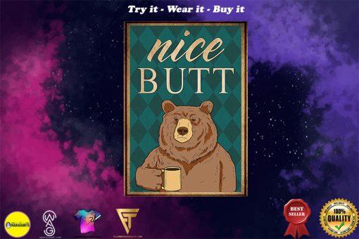 vintage bear nice butt poster