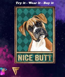 vintage boxer dog nice butt poster - Copy