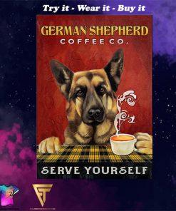 vintage german shepherd coffee co serve yourself poster - Copy