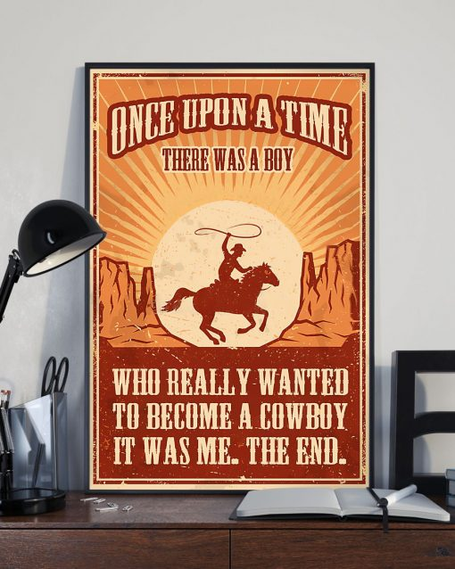 vintage once upon a time there was a boy who really wanted to become a cowboy poster 3