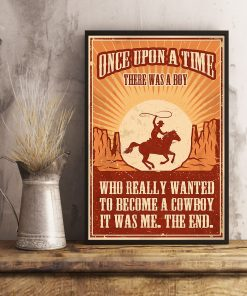 vintage once upon a time there was a boy who really wanted to become a cowboy poster 4