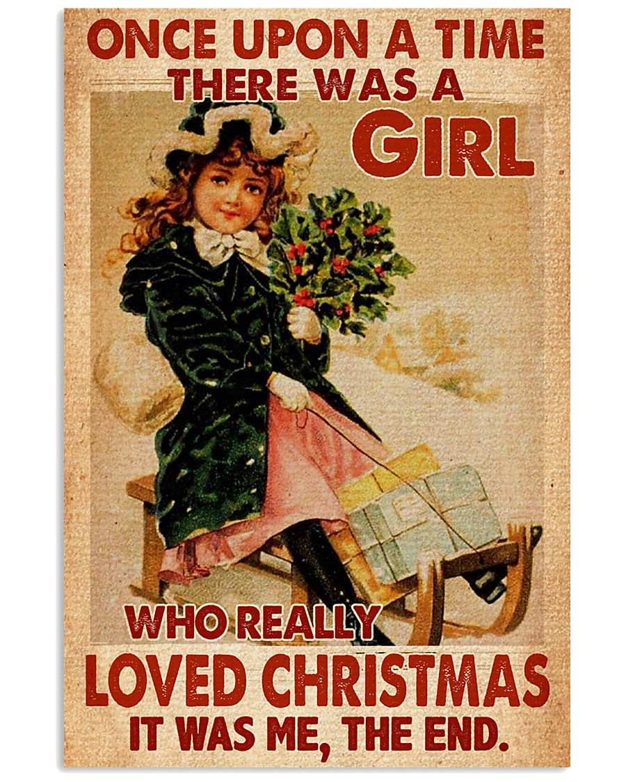 vintage once upon a time there was a girl who really loved christmas poster 1