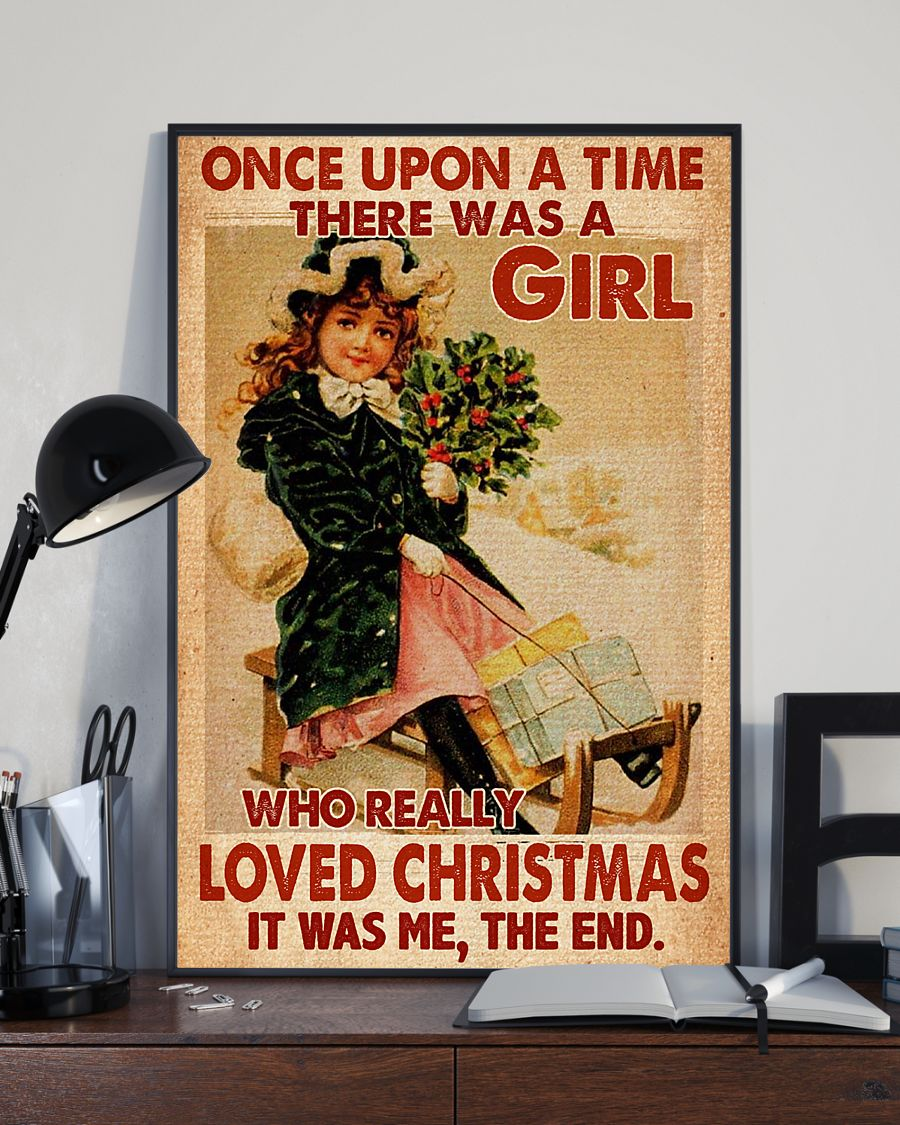 vintage once upon a time there was a girl who really loved christmas poster 2