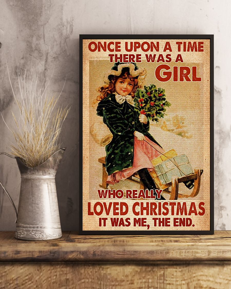 vintage once upon a time there was a girl who really loved christmas poster 3