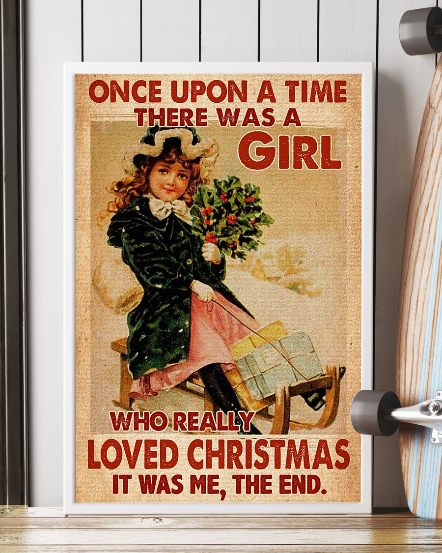 vintage once upon a time there was a girl who really loved christmas poster 4
