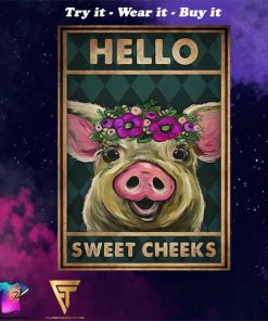 vintage pig hello sweet cheeks poster - Copy (4)