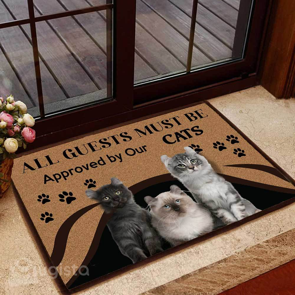 all guests must be approved by our cats doormat 1 - Copy (2)
