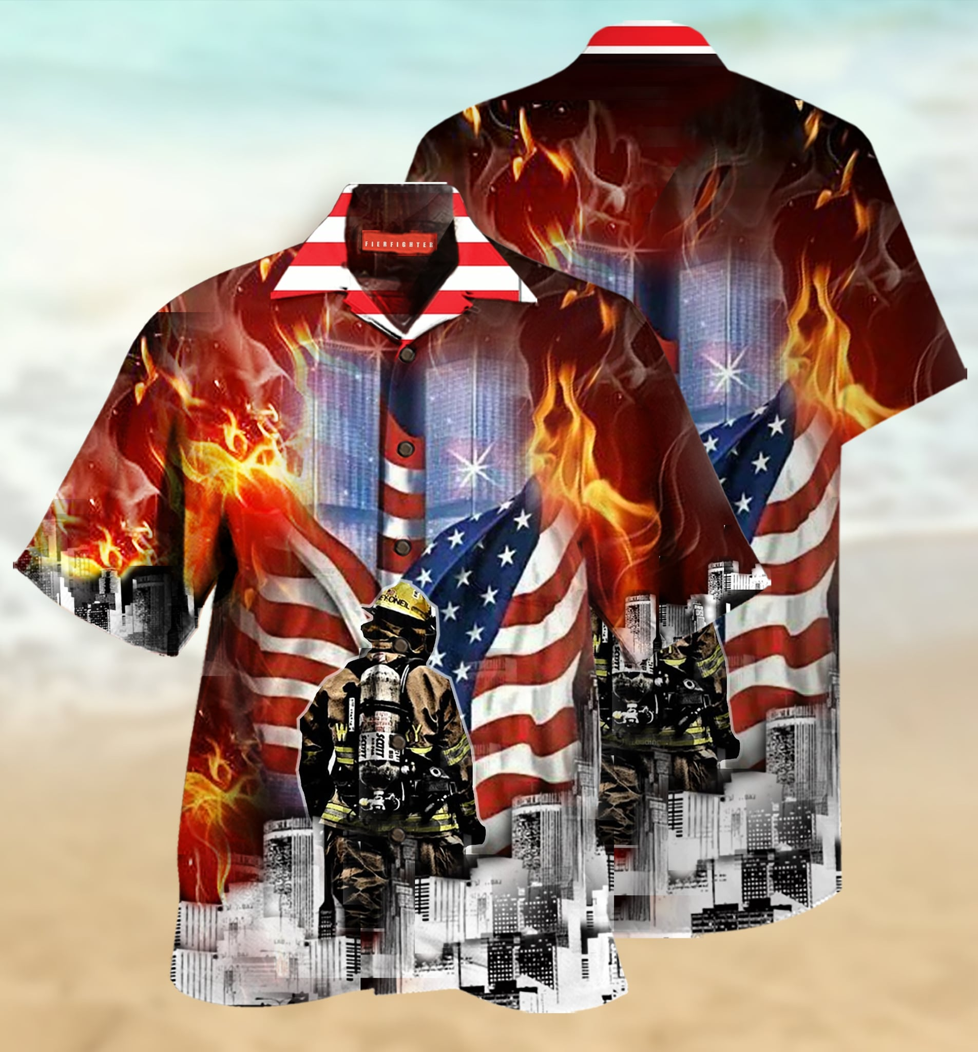 always remember firefighter full printing hawaiian shirt 1 - Copy