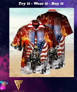 always remember firefighter full printing hawaiian shirt