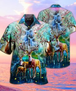 amazing deer full printing hawaiian shirt 1