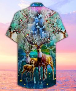 amazing deer full printing hawaiian shirt 2